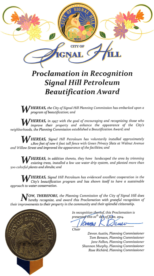 SHP Beautification Award_000